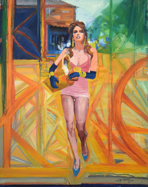 , 'Cindy Crosses the Street,' 2014, Fountain House Gallery