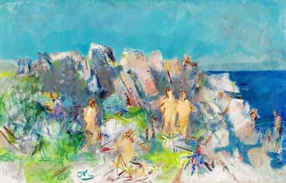 Badende kvinder, Suserenden (Bathing Women, Suserenden), Bornholm