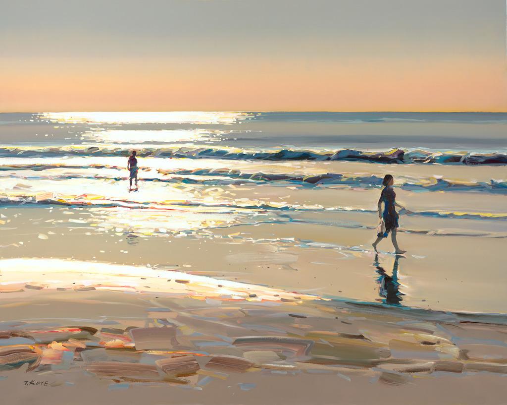 Kess InHouse Juan Paolo Vanishing Point Coastal Photography Wall Clock 12