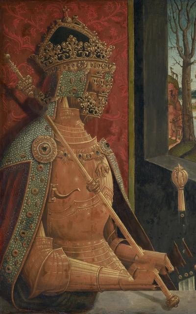 , 'caput # 02 / 992, based on MAXIMILIAN I. (1459–1519) by Bernhard Strigel, around1500,' 2018, Galerie Reinthaler