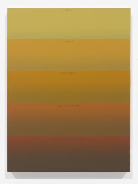 , 'Resurfacing Sediments III,' 2014, Luis De Jesus Los Angeles