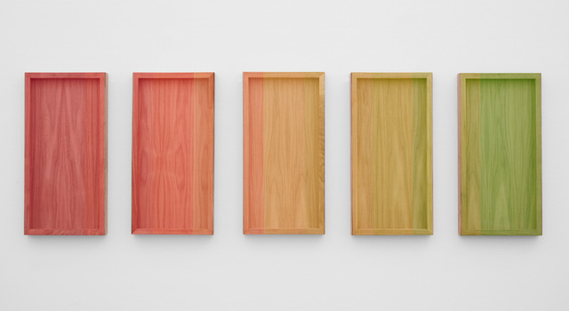 , 'Untitled (neon's on walnut),' 2018, Joshua Liner Gallery