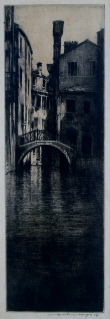 Mortimer Menpes, 'Shadowed Canal, Venice', ca. 1910, Private Collection, NY