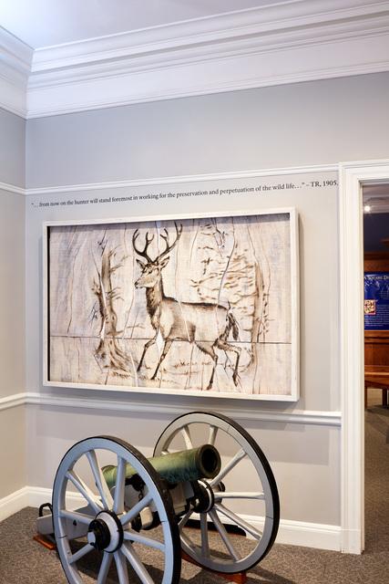 , 'Elk Engraving Painting,' 2017, Mark Moore Fine Art