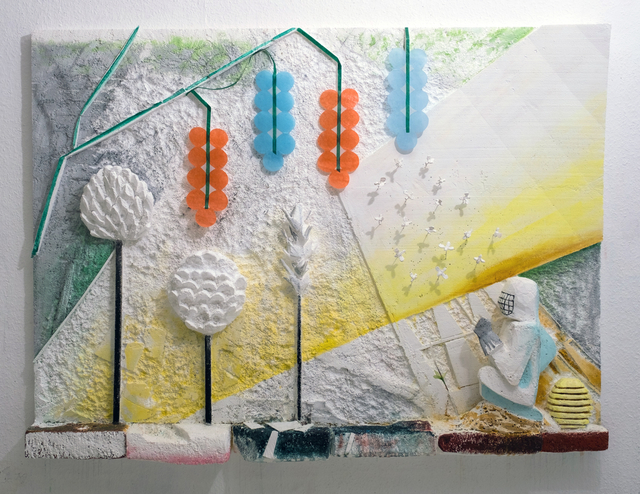, 'Bee Relief / The Liberation of Animals from their cages VII,' 2018, Jacky Strenz