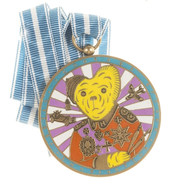 Grayson Perry, 'Teddy Bear Necklace Medal (Alan Measles)', 2018, Forum Auctions