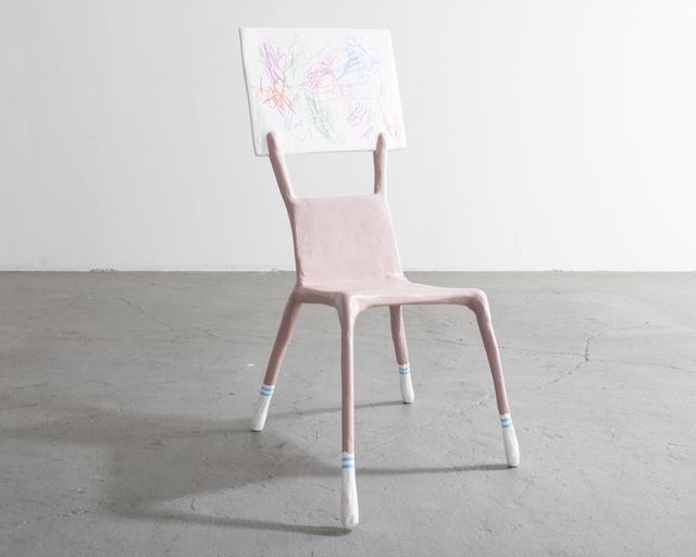 ", '""I'm a Woman Not an Object,"" Child Chair,' 2017, kinder MODERN"