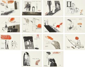 David Hockney, 'A Rake's Progress: 14 plates,' 1963, Phillips: Evening and Day Editions
