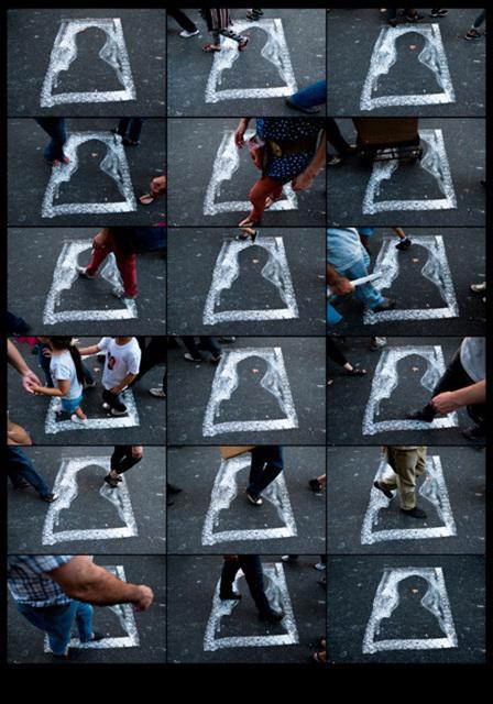 , 'Silueta (conmemoración 40 años del golpe estado Argentina),' 2016, Michel Rein Paris/Brussels