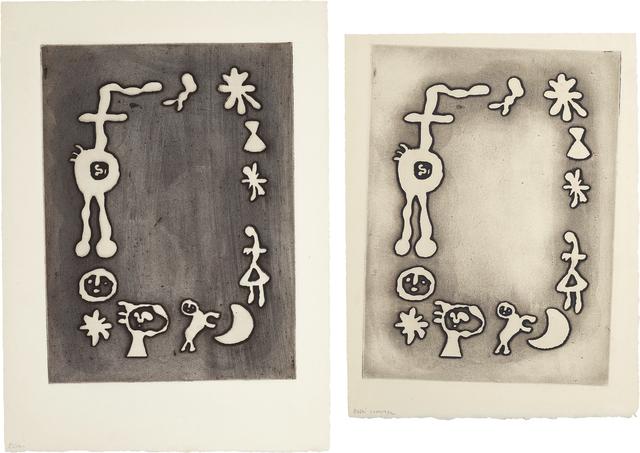 Joan Miró, 'Ruthven Todd Album, Joan Miró poem: two impressions', 1947, Phillips