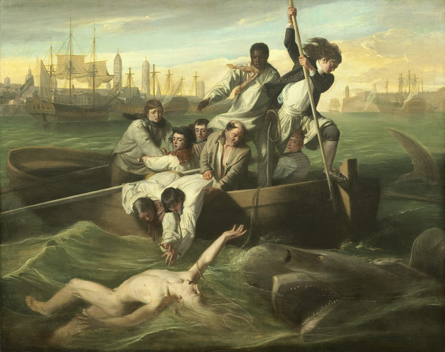 John Singleton Copley, 'Watson and the Shark', 1778, Painting, Oil on canvas, National Gallery of Art, Washington, D.C.