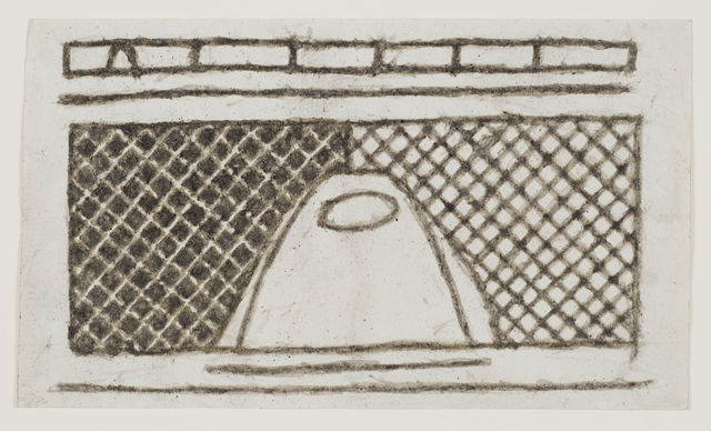 , 'Untitled (Abstract figure in crosshatch patterns),' n.d., Fleisher/Ollman