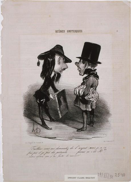 Honoré Daumier, 'Scènes Grotesques: Tailleur...Prenez ça...', 1839, Phillips Collection