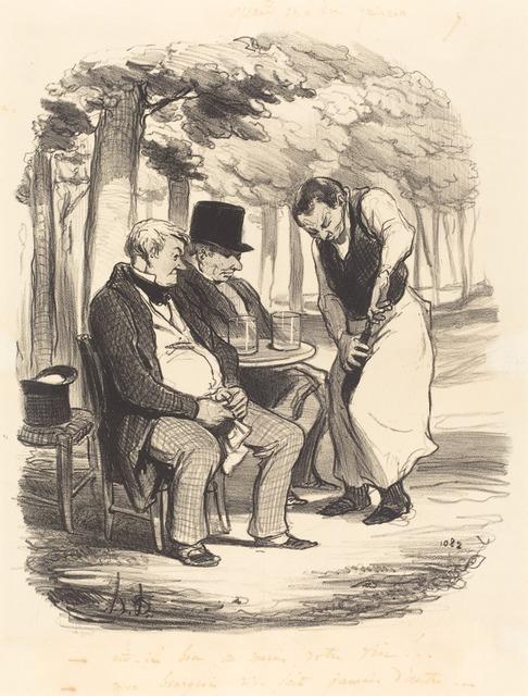 Honoré Daumier, 'Est-il bon, au moins, votre vin!...', 1848, National Gallery of Art, Washington, D.C.