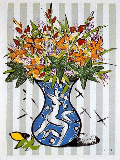 , 'Flowers on Stripes,' 1999, Fils Fine Arts