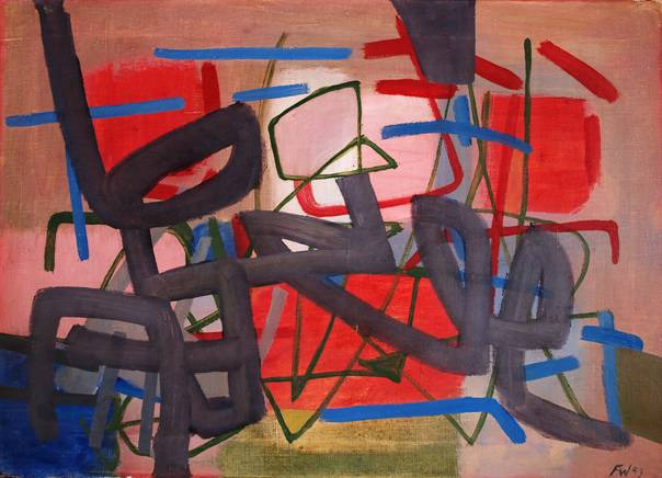 Fritz Winter, 'Composition in Red and Blue', 1953, Henze & Ketterer