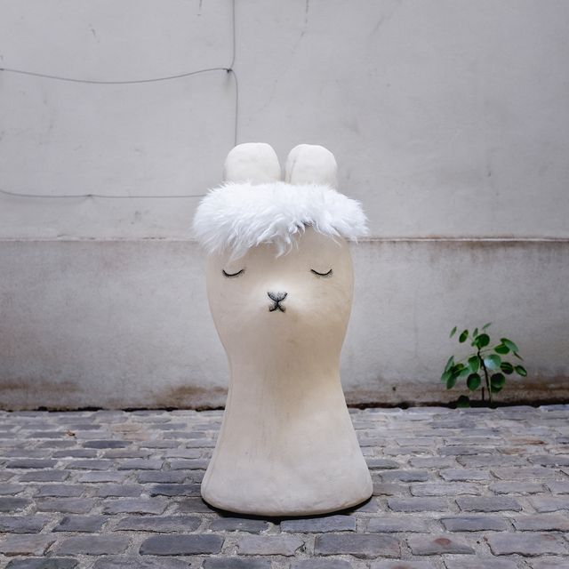 , 'Big Bunny Stool,' 2018, Antonine Catzéflis