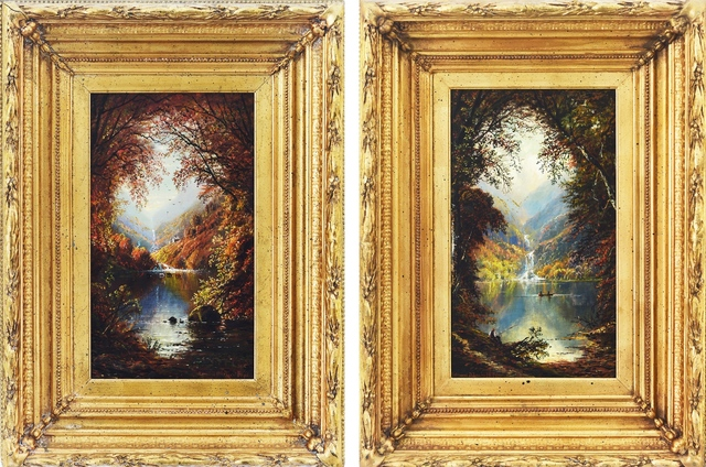 , 'Glen Ellis Falls: (Diptych) Autumn & Late Summer,' , Eisele Fine Art