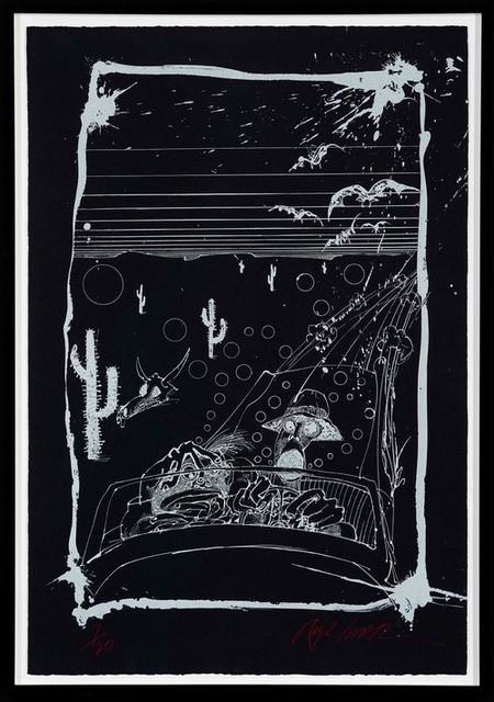 Ralph Steadman, 'Bats over Barstow - Black ', ca. 1990, Gonzo Gallery