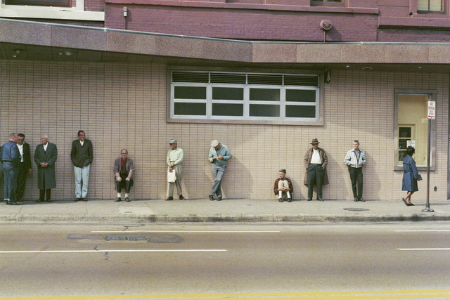 , 'Job centre queue, Chicago,' 1966, David Hill Gallery