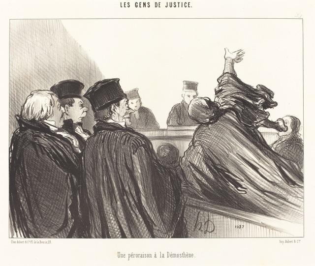 Honoré Daumier, 'Une Péroraison a la Démosthène', 1847, National Gallery of Art, Washington, D.C.