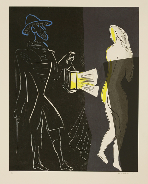 Sonia Lawson, 'Night Watchman; Newspaper Readers', Sworders