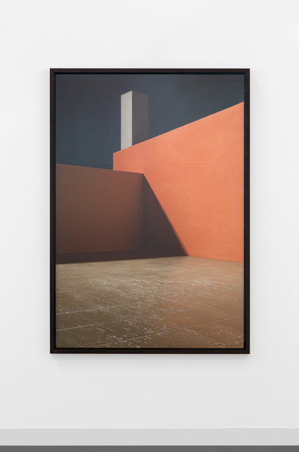 , 'Courtyard with Orange Wall,' 2016, Lisson Gallery