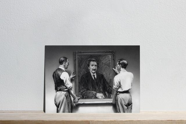 """, 'Postcards to AZ: Max Liebermann's """"Albert Einstein, 1922"""",' 2017, Josée Bienvenu"""