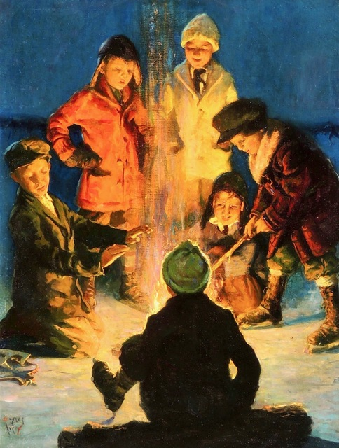 Eugene Iverd, 'Boys Around a Campfire, Post Cover ', 1931, The Illustrated Gallery