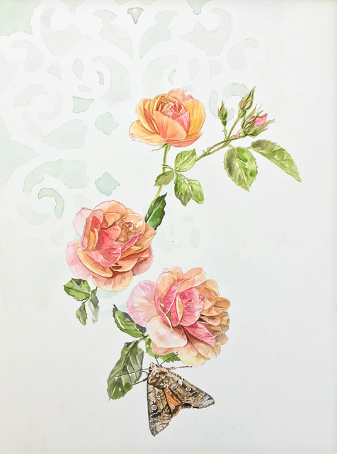 , 'Tea Rose and Moth,' 2017, Ghostprint Gallery