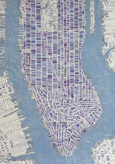 , 'Lavender Manhattan,' 2017, Rebecca Hossack Art Gallery