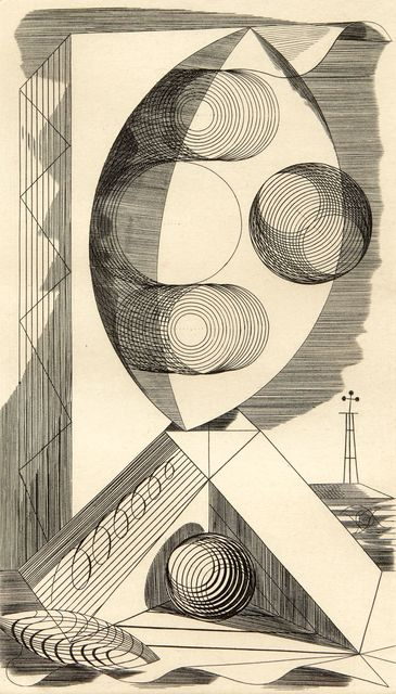 Edward Bawden, 'Composition', 1937, Print, Engraving on wove, Roseberys