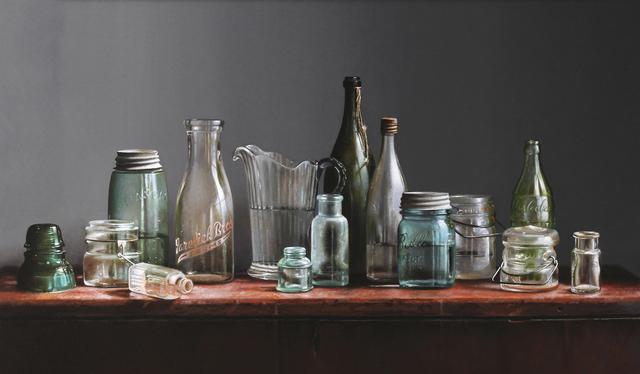 , 'Bottles and Jars,' 2019, William Baczek Fine Arts