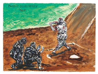 Raymond Pettibon, 'Untitled (Twilight Doubleheader Reds...),' 2010, Sotheby's: Contemporary Art Day Auction