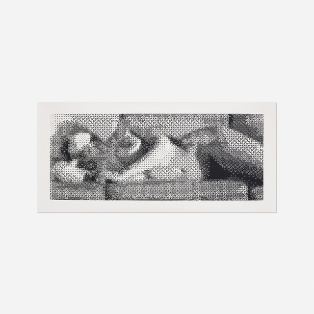 Leon Harmon, 'Computer Nude (Studies in Perception I)', 1967, Painting, Laser print on paper mounted to canvas, Rago/Wright
