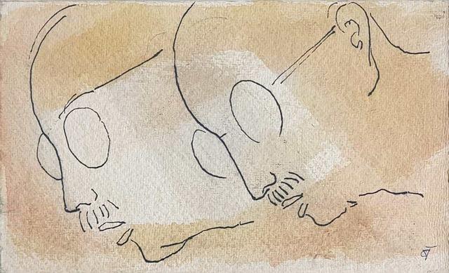 ", 'Gandhi, Father of the Nation, Drawing on Paper by Padmashree Artist Badri Narayan ""In Stock"",' ca. Circa, Gallery Kolkata"