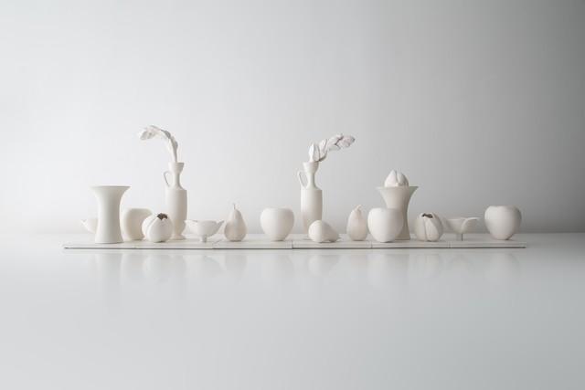 , 'Installation of Still Lifes in White,' 2017, Hostler Burrows