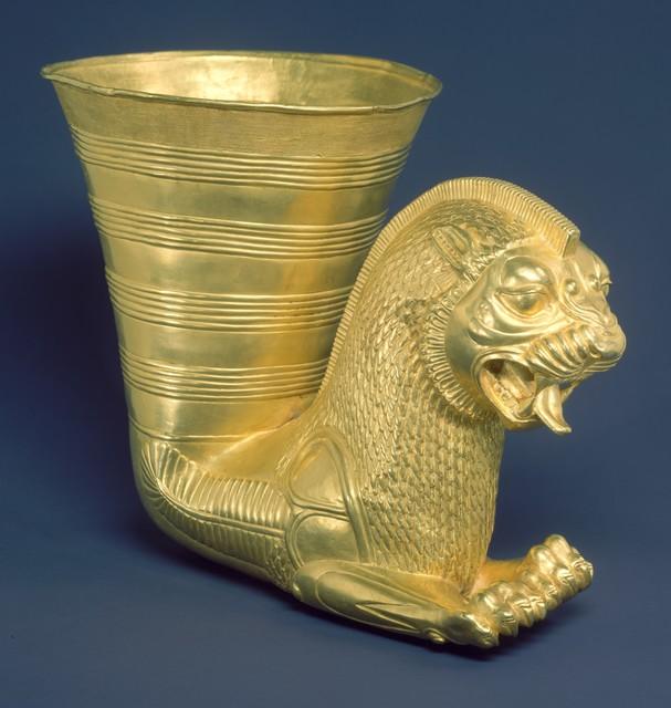 Unknown Achaemenid, 'Vessel terminating in the forepart of a fantastic leonine creature', ca. 5th century B.C., The Metropolitan Museum of Art