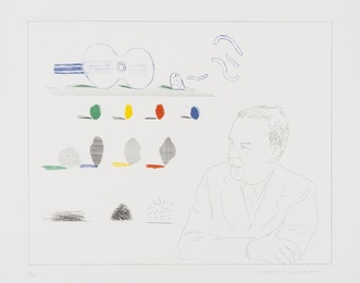 David Hockney, 'The Poet (S.A.C 190),' 1976-77, Forum Auctions: Editions and Works on Paper (March 2017)