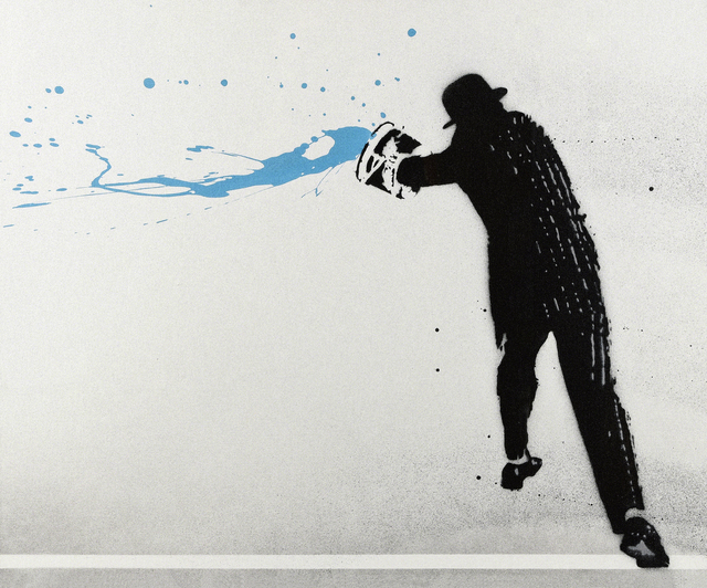 Nick Walker, 'Paint Chucker (Blue)', 2008, Painting, Spray paint, stencil and acrylic on canvas, Tate Ward Auctions