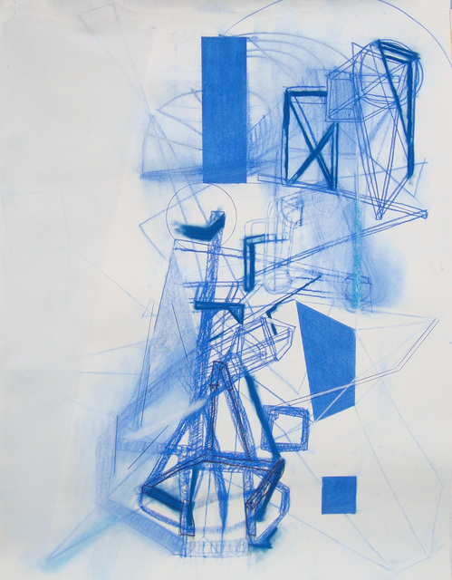 Lorraine Tady, 'Blue Forms', 2012, Barry Whistler Gallery