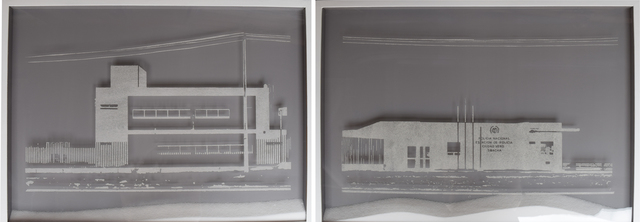 """, 'Unfinished Constructions Series 1, """"Nueva Estacion de Policia Ciudad Verde, Soacha"""" (diptych),' 2016, Beatriz Esguerra Art"""