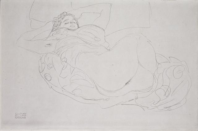 Gustav Klimt, 'Reclining Nude [Fünfundzwanzig Handzeichnungen]', 1919, Print, Collotype, Jason Jacques Gallery