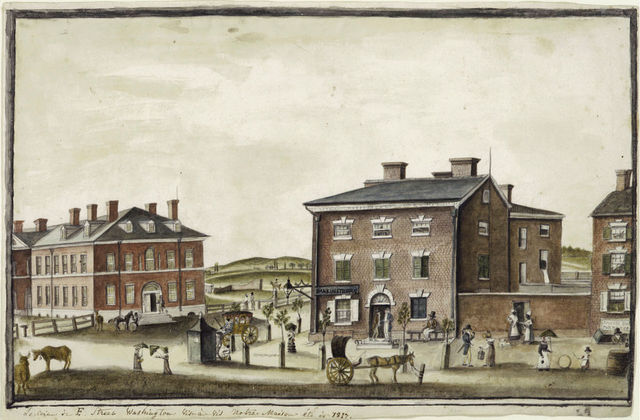 , 'The Corner of F Street,' 1817, White House Historical Association