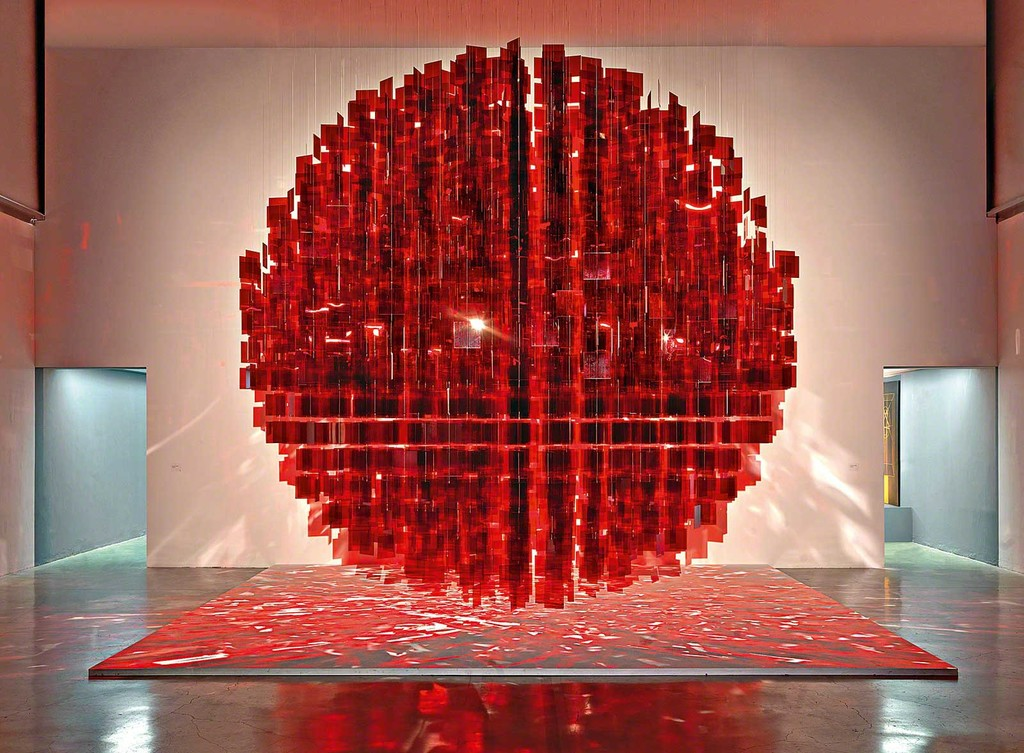 Julio Le Parc, Sphère rouge (Red Sphere), 2001–12. © 2016 Artists Rights Society (ARS),
