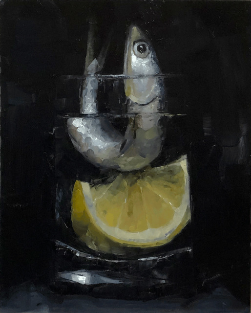 Tom Giesler, 'Floral 36: anchovy lemon', 2020, Painting, Oil on panel, McVarish Gallery