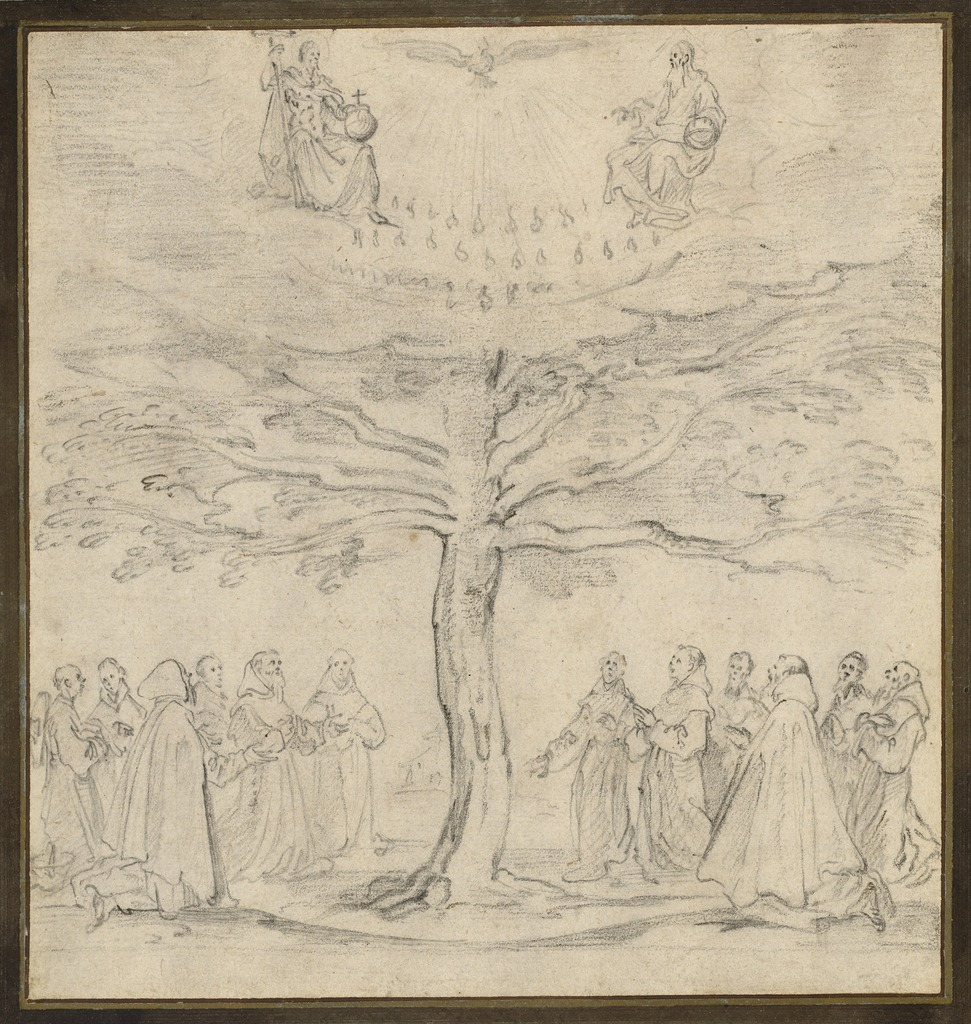 Jacques Callot | The Holy Trinity in the Tree of Life Adored by ...
