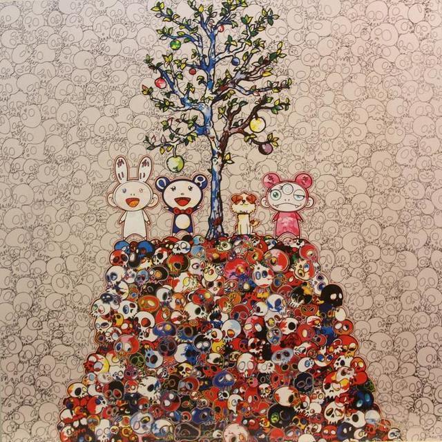 Takashi Murakami, 'Kaikai, Kiki, DOB and Pom atop the Mound of Dead', 2013, Vogtle Contemporary