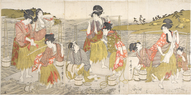 , 'Brine Carriers,' ca. 1804, Scholten Japanese Art