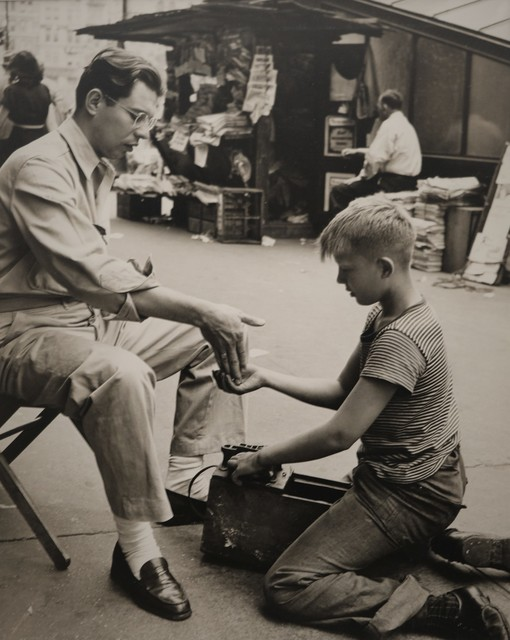 Morris Engel, 'Shoe Shine Boy', 1945, Photography, Silver gelatin photograph, The Halsted Gallery